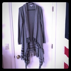 CAbi sweater with tassels.